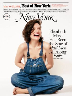 Seriously gorgeous. | Elisabeth Moss on the cover of the New York Post | photo by Cass Bird