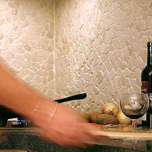 White Stone Backsplash Kitchen 120 best backsplash ideas - pebble and stone tile images on