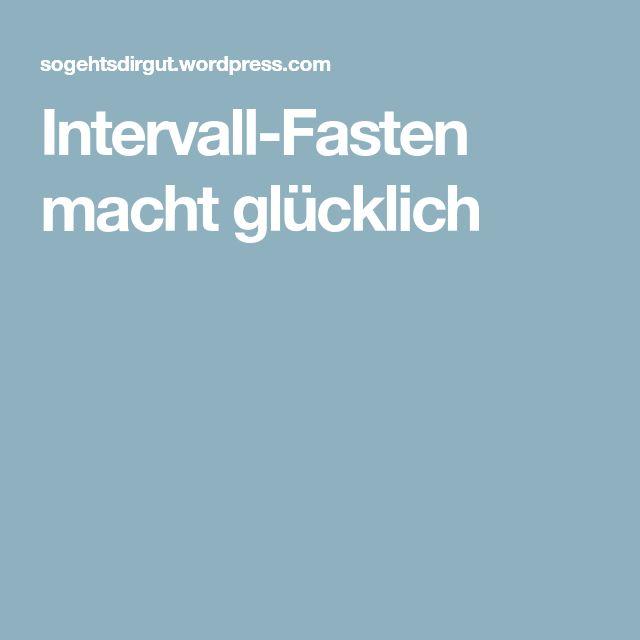 Intervall-Fasten macht glücklich