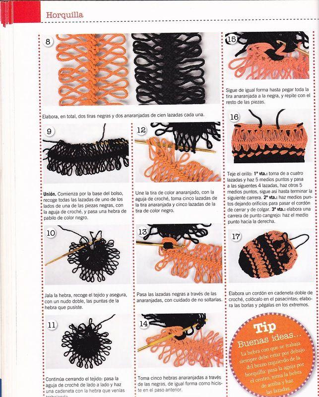314 best Gabelhäkeln - Hairpin lace images on Pinterest | Gallows ...