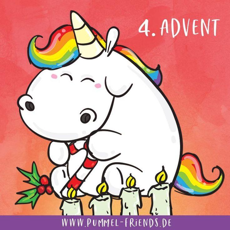 Wir wünschen allen einen schönen 4ten Advent ❣️ Morgen ist schon Weihnachten!😍 #pummelandfriends #pummeleinhorn #weihnachten #advent