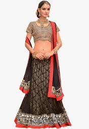 Admyrin Black Embellished Lehenga Online Shopping Store