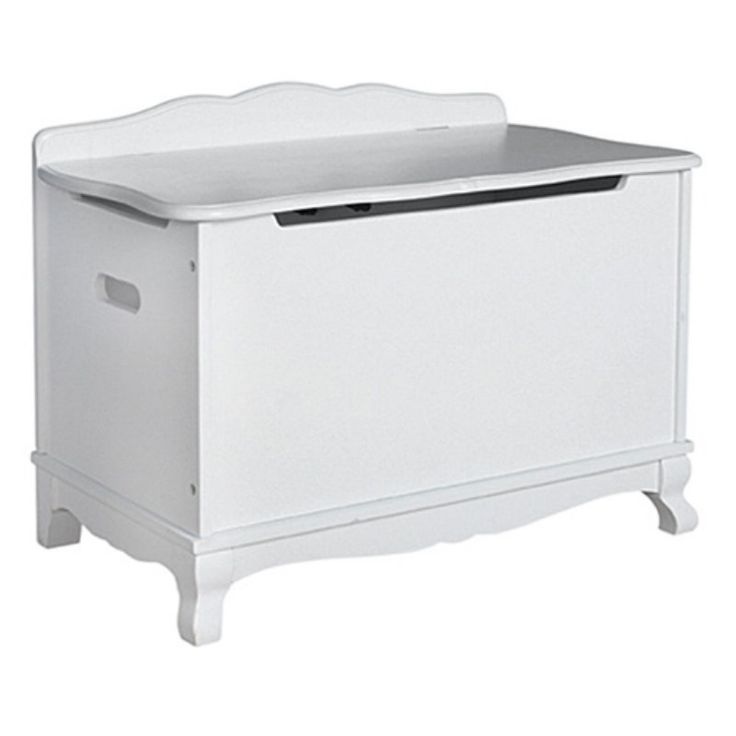 Guidecraft Classic White Toy Box - G85704