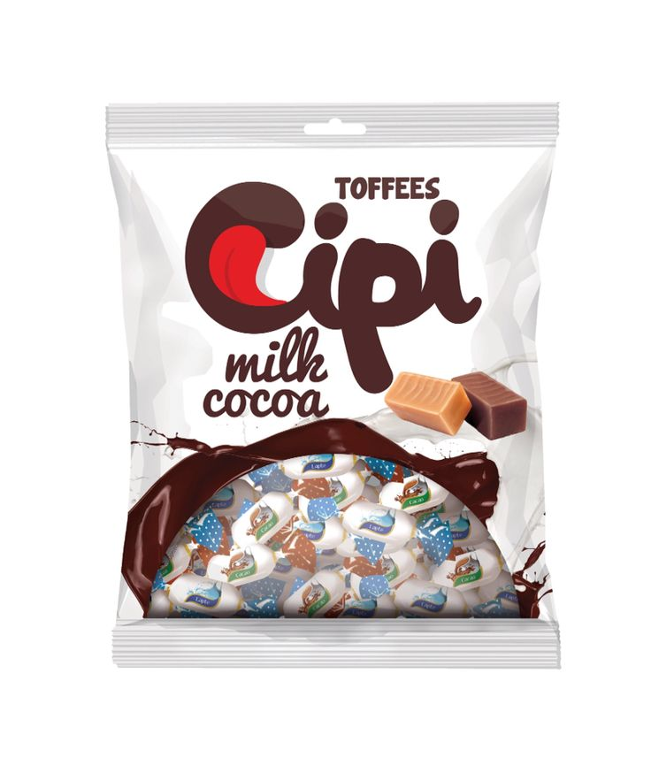 New Fresh Design for Cipi Toffees - packaging design by Gilbert Vasile