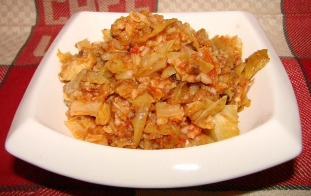 Lazy Cook s Golumpki (Stuffed Cabbage) from Food.com: Easy crockpot recipe with all the great flavors of Polish golumpkis.