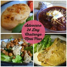 Advocare 24 Day Challenge Meal Plan--all the clean meals we ate during the Advocare 24 day challenge.
