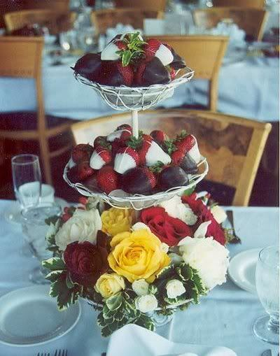 One of Katie's favs for the dessert table.  I don't like the flowers on the bottom.  Edible Wedding Centerpieces on Edible Centerpieces   Project Wedding Forums