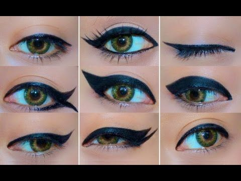 9 Different Eyeliner Looks by  Lupe Netro on youtube
