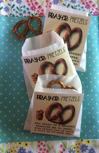 Prayer Pretzels Handout.