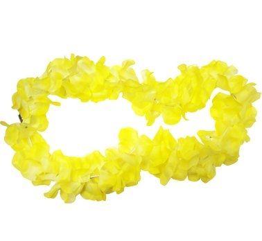 Naszyjnik hawajski świecący, żółty