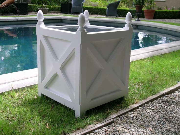 White Cross Planter