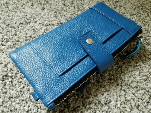 Women's BodyGuard Radio Frequency Identification Shielding Leather Wallet Blue