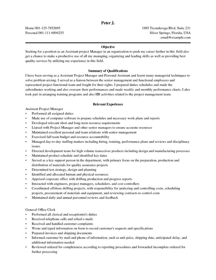 25 Best Ideas about Project Manager Resume – Construction Management Job Description