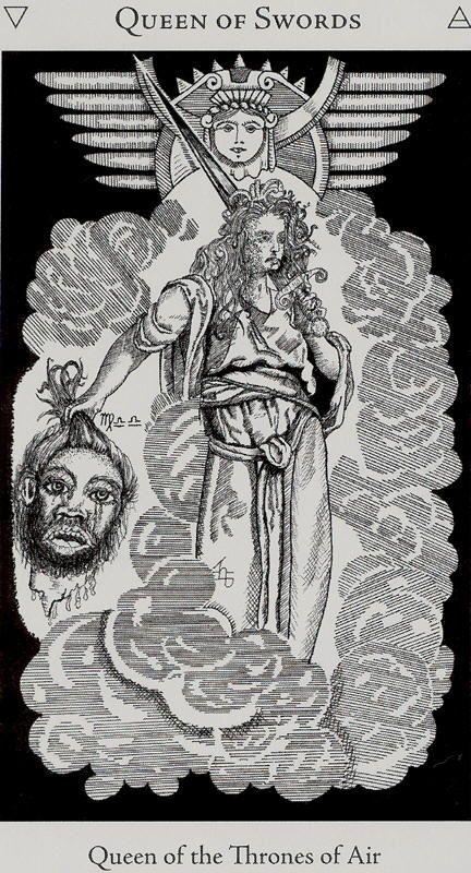 Queen of Swords - Hermetic Tarot by Godfrey Dowson