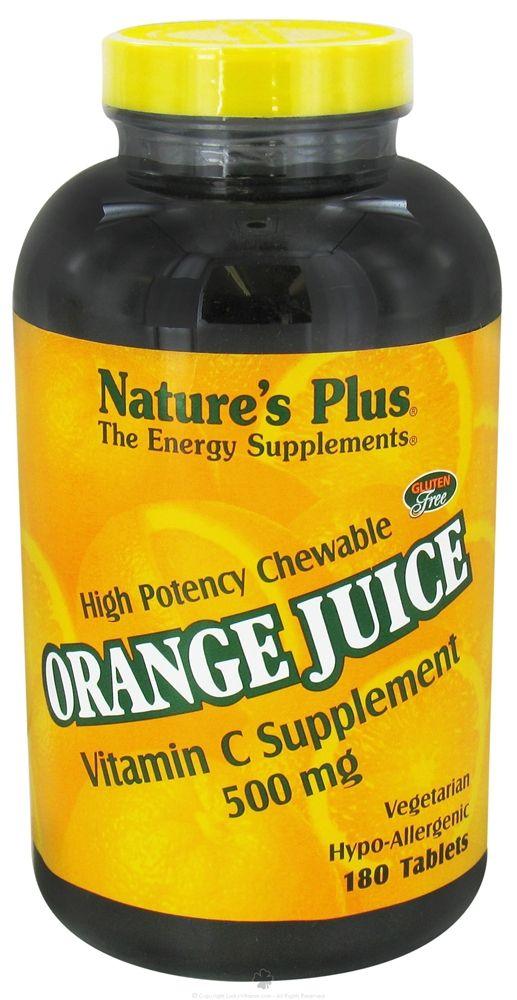Buy Nature's Plus - Orange Juice Chewable Vitamin C 500 mg. - 180 Tablets at LuckyVitamin.com