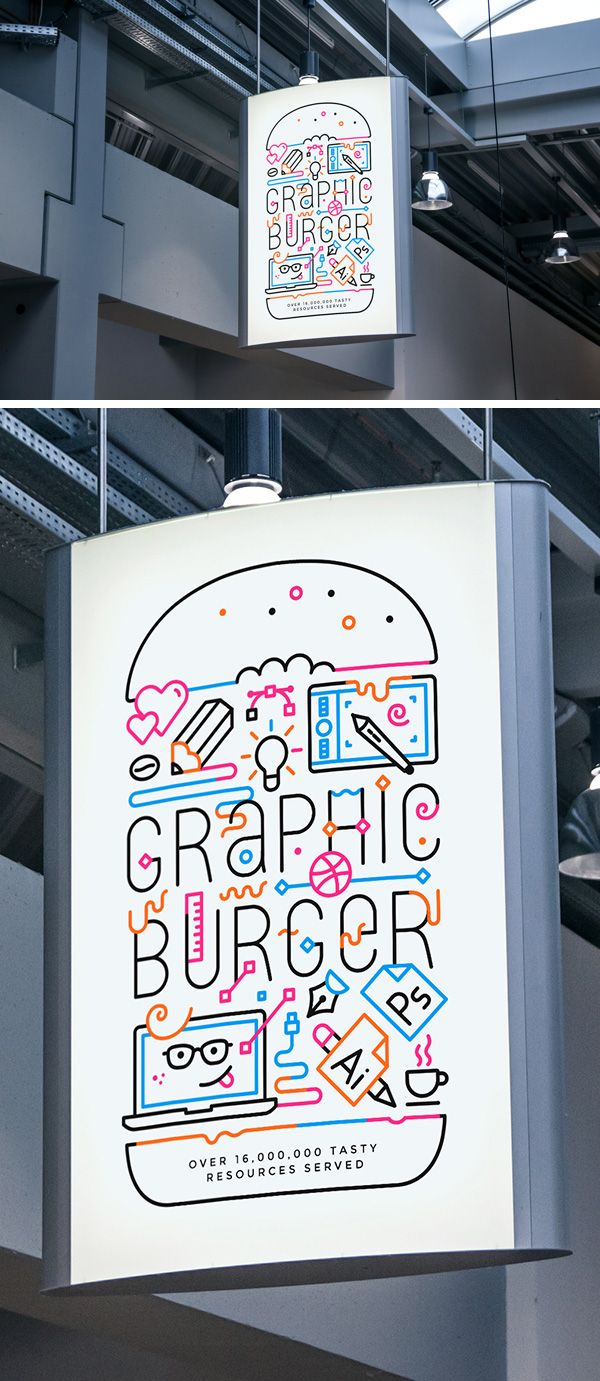 Indoor Advertising Poster MockUp #2 | GraphicBurger