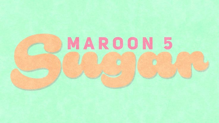 Maroon 5 - Sugar (Kinetic Typography) Finally able to finish it. I hope you guys enjoy this video as much as I do making it. This video took a LOT longer as ...