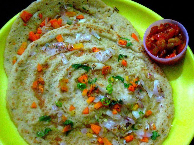 Resmi's kitchen: OATS UTHAPPAM