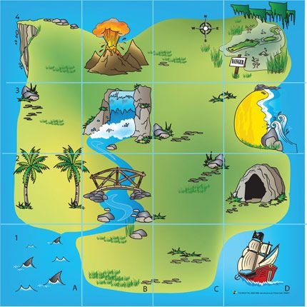Bee-Bot Treasure Island Mat: Ahoy there! Explore the island and hunt for treasure using Bee-Bot. This mat is sure to inspire children's imagination. An excellent resource for teaching control in the Foundation Stage and KS1. : Complete with comprehensive support notes : L/W 60 x 60cm