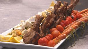 Marinated Lamb Cutlets With Mediterranean Couscous
