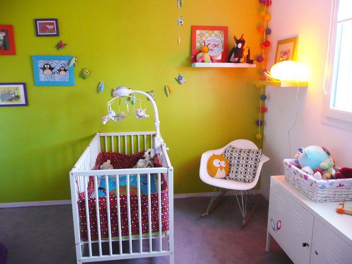 Les 10 meilleures images propos de chambre mixte sur pinterest appartements violettes et for Chambre orange et vert anis