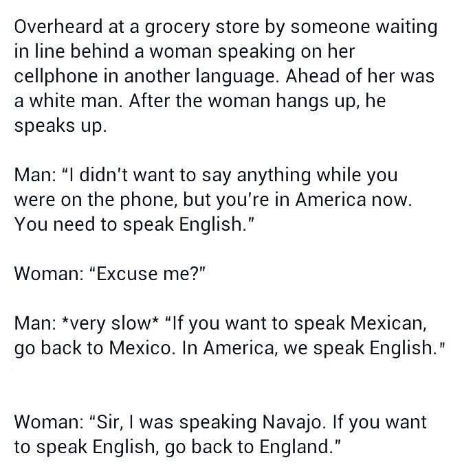 What if we took the English language and just started calling it American?
