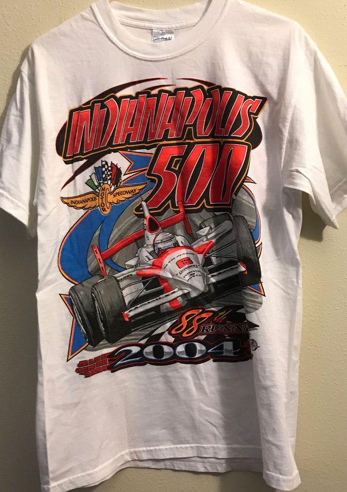 Indianapolis 500 Excellent Condition T shirt Adult Size Medium #Gildan
