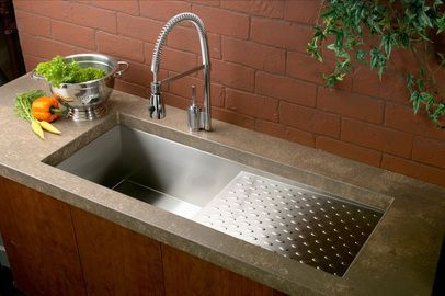 Franke Sink With Drainboard : about Sinks with drainboards on Pinterest Double bowl kitchen sink ...