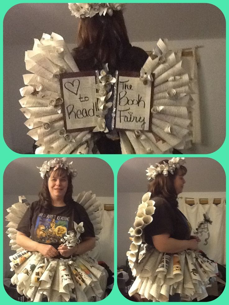 Diy book fairy costume I made.  - Ally