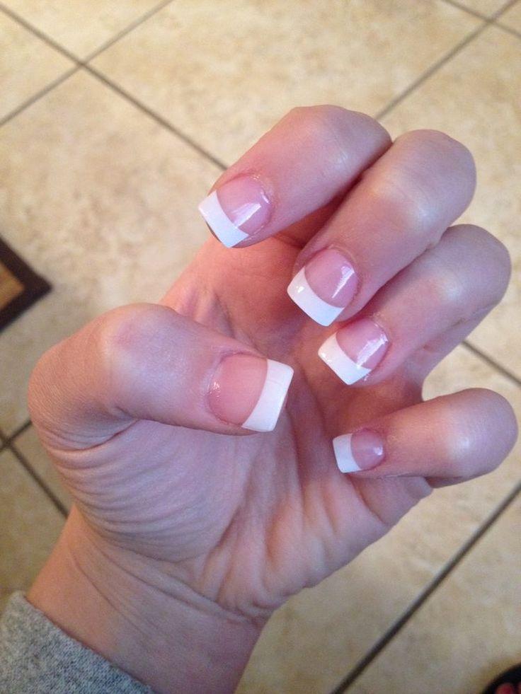 short square acrylic nails french manicure wwwimgkid