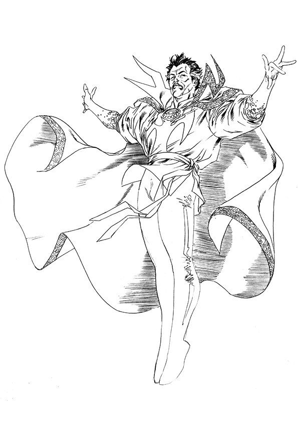 Avengers Age Of Ultron Coloring Page Avengers Coloring Pages Doctor Strange Avengers Coloring