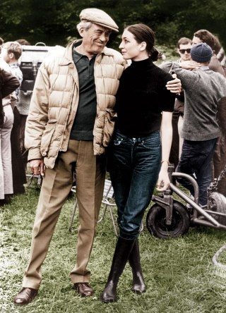 Anjelica Huston and father, John Huston                                                                                                                                                                                 More