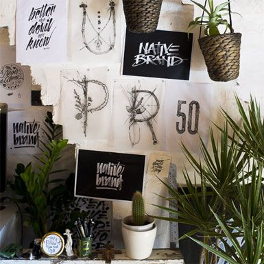 Get the look: Typography and plants collide in the home of Gemma O'Brien