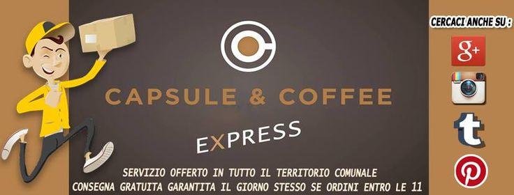 SERVIZIO OFFERTO NEI COMUNI DI :  FANO, SALTARA, SERRUNGARINA, PIAGGE, SAN COSTANZO, MONDOLFO, MONTEFELCINO, MONTEMAGGIORE.  Fail tuo ordine di Caffè (Capsule, Cialde, Grani) entro le 11.00, avrai la consegna gratuita e garantita entro le 16.00 dello stesso giorno !  FOSSOMBRONE, PESARO, ORCIANO, entro 48h.  Per tutte le info chiamaci allo 0721-823785  #Fano #Caffè #Capsule #Coffee #express