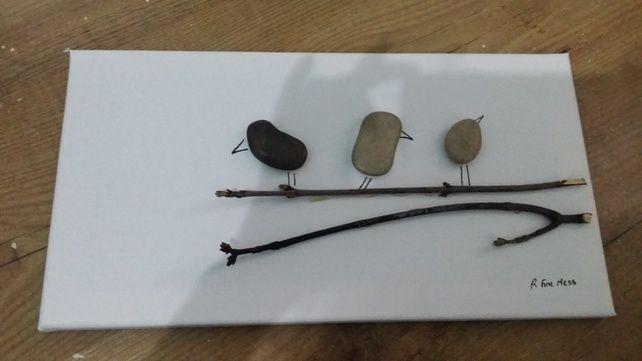 Pebble Art - Tweet,tweet, tweet and away we go.. £21.00