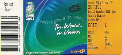 #England v #france rugby world cup semi #final 2003 ticket,  View more on the LINK: http://www.zeppy.io/product/gb/2/300604368831/