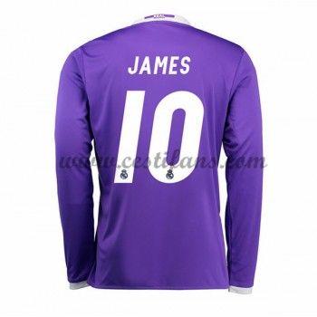 Real Madrid Fotbalové Dresy 2016-17 James 10 Venkovní Dres Dlouhým Rukávem