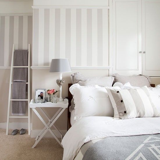 Cream and grey bedroom | Bedroom decorating | Ideal Home | Housetohome.co.uk