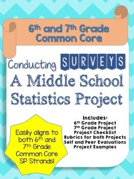 This is a survey project that is aligned to the 6th and 7th Grade Common Core (6.SP.1 to 6.SP.5 and 7.SP.1 to 7.SP.4). Students survey a random sample and then calculate the mean, median, range, and mode of the data. They also must create different data displays such as histograms and box and whisker plots.