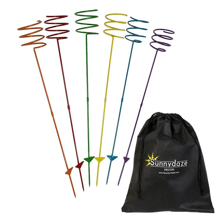 Sunnydaze Heavy Duty Multi Colored Outdoor Drink Holder, Options Available (6), Purple (Steel), Outdoor Décor