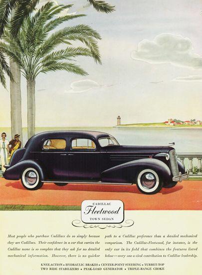 Cadillac Fleetwood Town Sedan 1936 - www.MadMenArt.com   Vintage Cars…