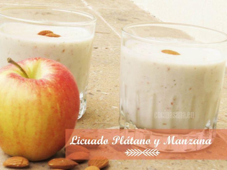 Licuado de Plátano y Manzana contra la Gastritis on http://www.cocinasana.eu