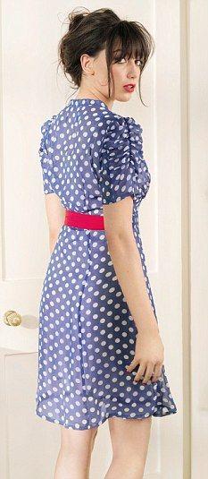 Daisy Lowe Modeling | Daisy Lowe modelling Peacock's spotty tea dress, designed by her mum ...