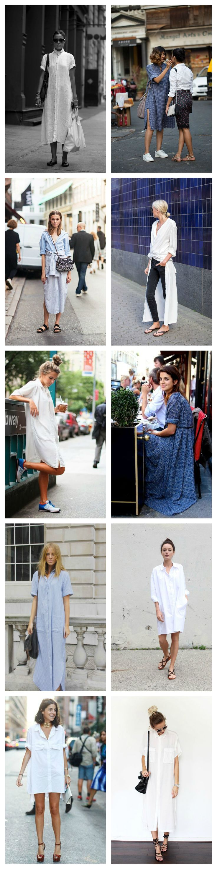 I would wear that...the shirtdress. - Bliss