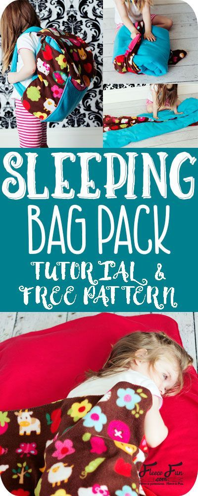 I love this sleeping bag that turns into a backpack! It's a free sewing pattern and there is a video to make it easy! This sleeping bag pack how to is a great DIY sewing project.