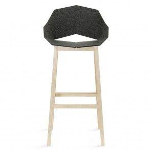 Seatshell barkruk Roijé donkergrijs/naturel vilt | Musthaves verzendt gratis