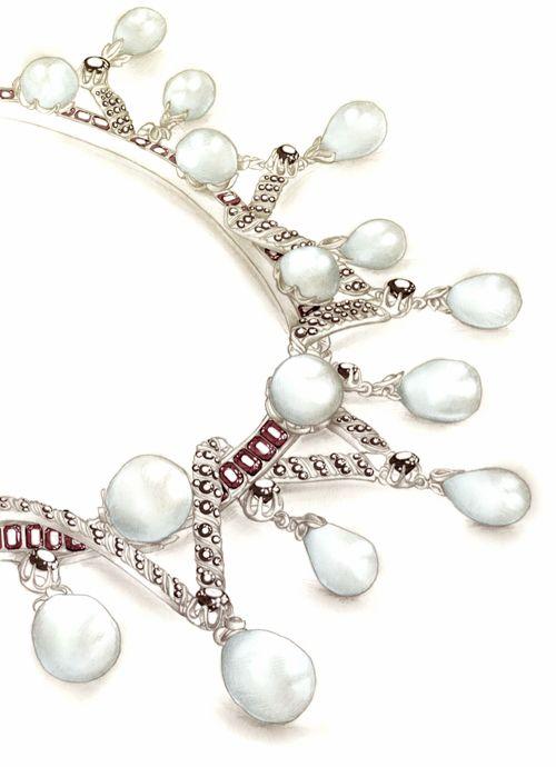 Illustration bijoux collier Florence Gendre