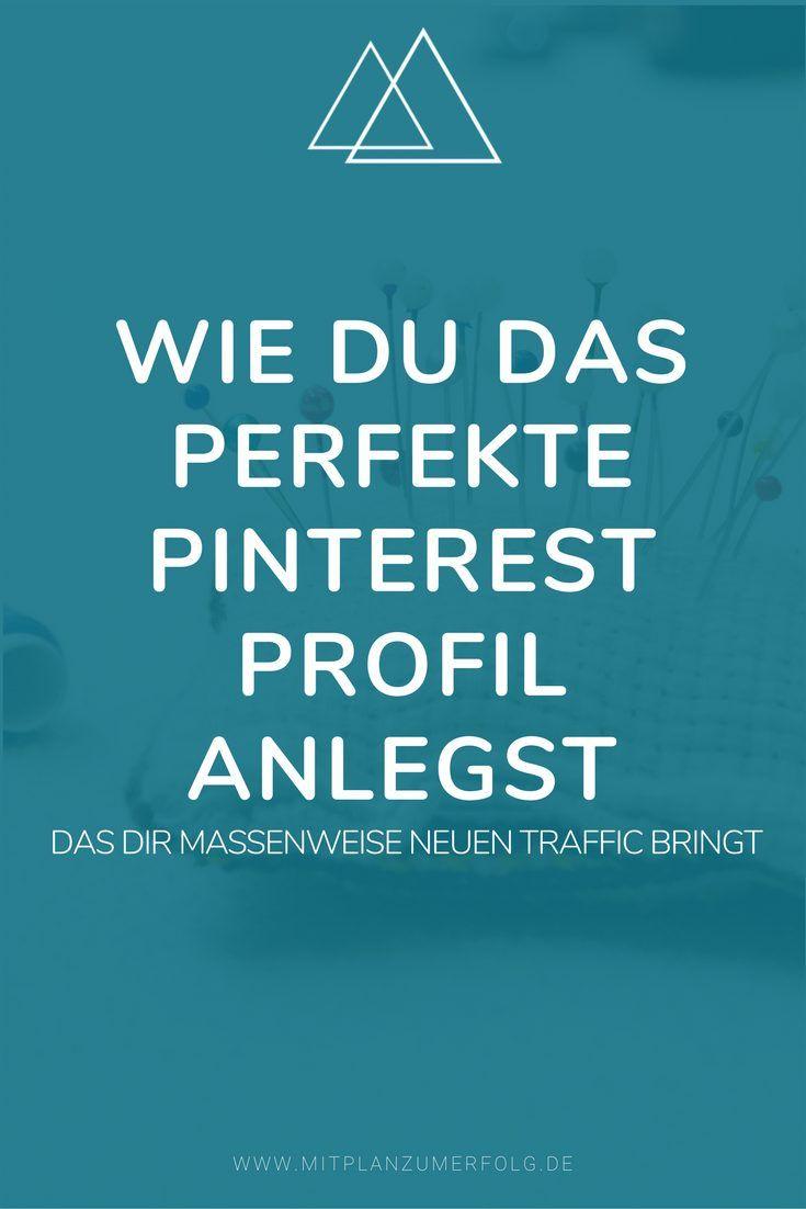 Lerne, wie Du Dein Profil in Pinterest optimal einrichtest - Teil 1 der kompletten Strategie, die Dir Traffic, Leads und Kunden bringt