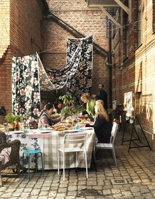 Courtyard party. For IKEA Catalogue 2012. Photo by Kristian Krebbs, styling by Lo Bjurulf and me.