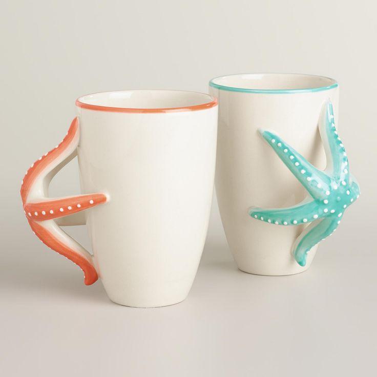 Starfish Mugs, Set of 2 | World Market